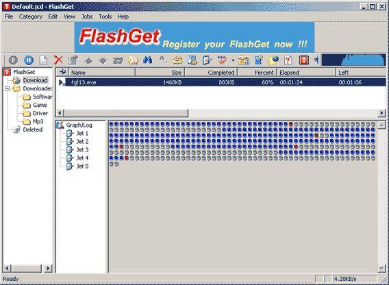 FlashGet 1.82.1004 Русская версия + Crack. Менеджер загрузок, специально р